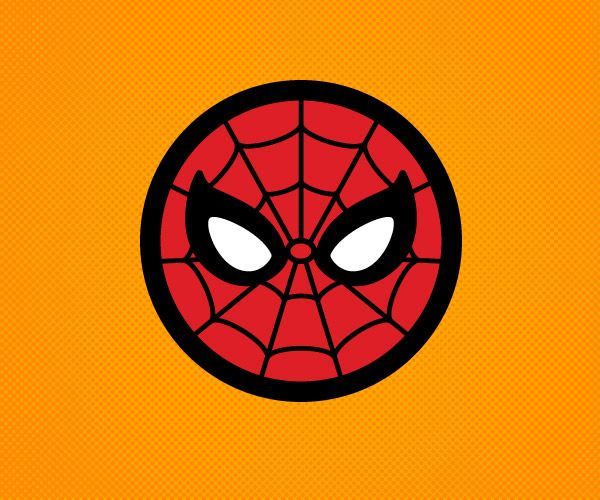 outline of spider man logo - Google Search