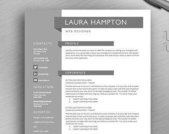 Reprendre le gabarit, page 3 le modèle de CV et lettre de motivation, MS Word, téléchargement numérique instantané