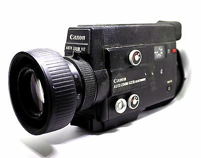 Vintage Canon 512XL Auto Zoom Electronic Super 8 Film Video Movie Camera 1970's