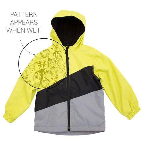 Buy Waterproof Kids' Magic Print Wet-weather Jacket - Boys Sulphur