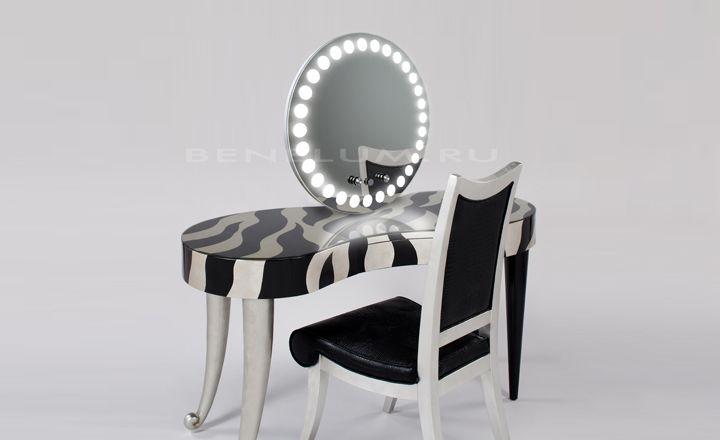 Зеркало для макияжа с подсветкой по кругу
