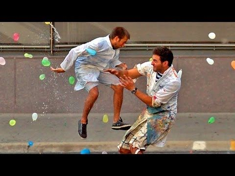 ▶ Slow Motion Water Balloon Fight with 1500 people Starring Freddie Wong - YouTube