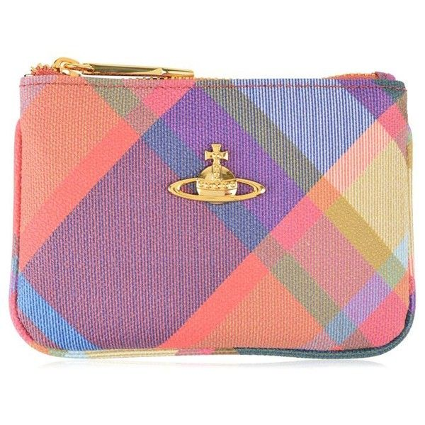 Vivienne Westwood Accessories Derby Checked Purse ($76) ❤ liked on Polyvore featuring bags, wallets, harlequin, zipper wallet, zip bag, checkered bag, vivienne westwood wallet and vivienne westwood bags