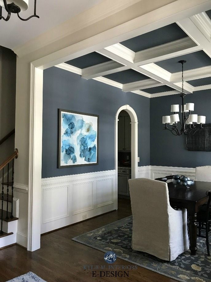 Ideas And Tips How To Decorate Small Spaces And Rooms Dining Room Wainscoting Coffered Ceiling Dining Room Dining Room Ceiling