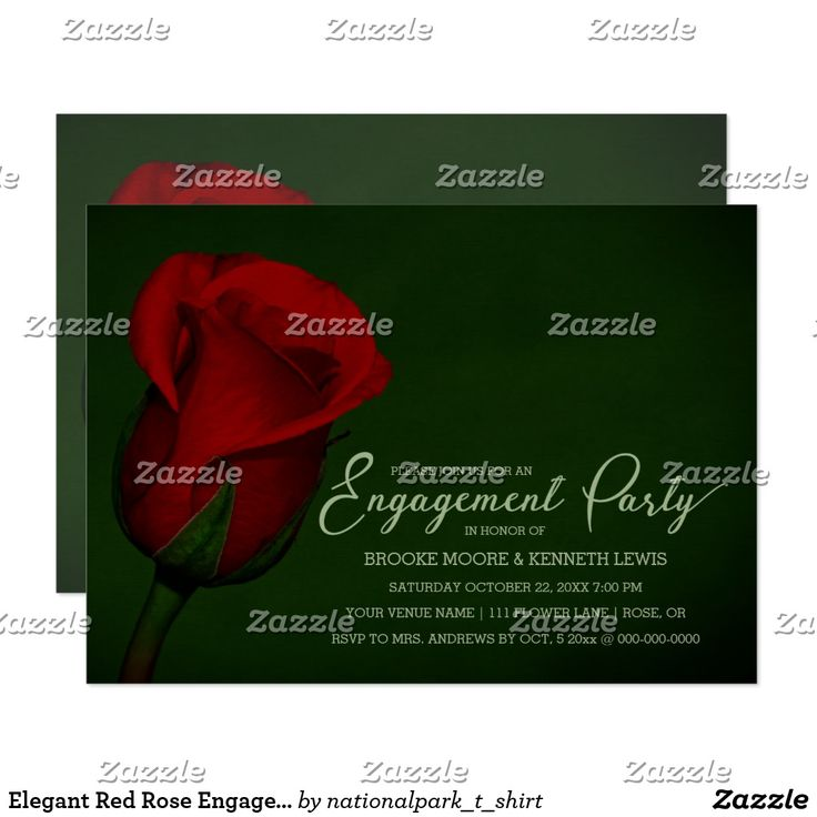 Elegant Red Rose Engagement Party Invitation Personalize this beautiful custom designed wedding Engagement Party Invitation. This beautiful invitation features nature landscape photography of a beautiful red rose digitally oil painted. Great for a country, rustic, floral or destination wedding. Matching products are available in my shop.