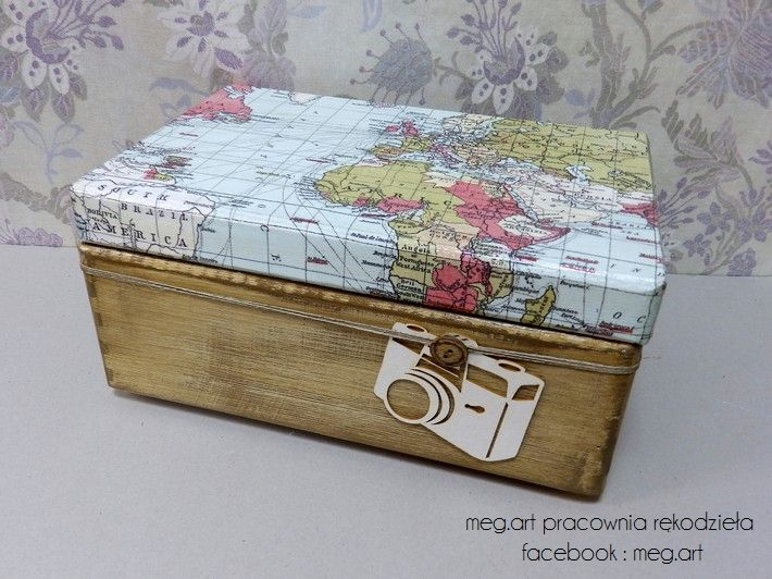 decoupage, handmade , wood, box