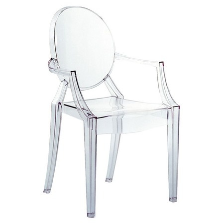 Kartell Louis Ghost Chair: Round Table, Lucite Chair