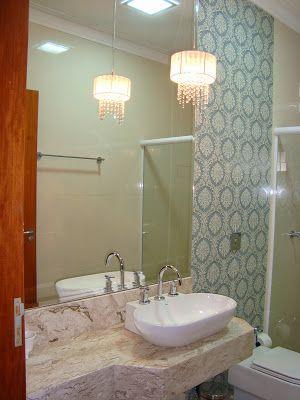 Banheiro: Ceusa brocado blue