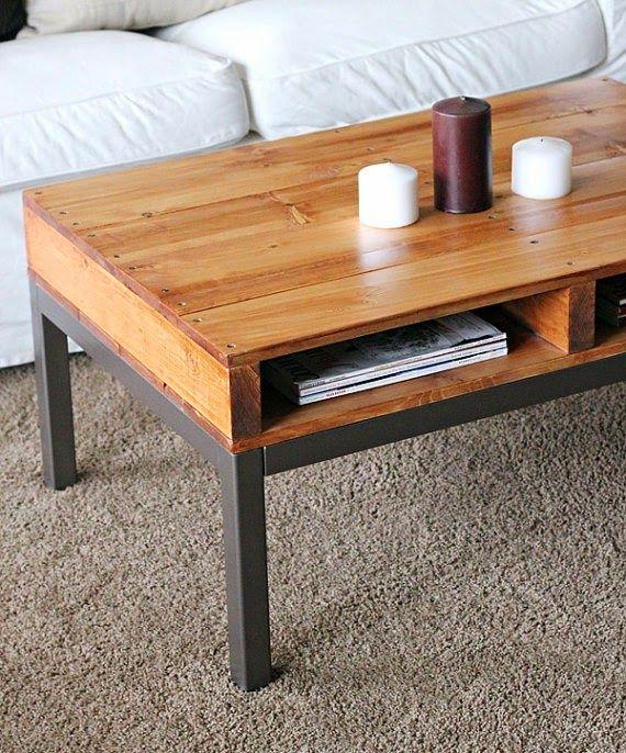 Casa - Decoração - Reciclados: Mesas feitas com Pallets!