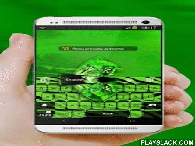 """Green Tiger GO Keyboard  Android App - playslack.com ,  The """"Green tiger"""" theme for GO Keyboard was specially crafted for you by Atisu.Green tiger.The requirements for a attractive GO Keyboard skin are: appealing colors, noble design and a positive source of inspiration - like tiger, cub, feline and wild, just the way this fern green GO Keyboard was made!An investigator starts research in a new field with faith, a foggy idea, and a few wild experiments. Eventually the interplay of negative…"""