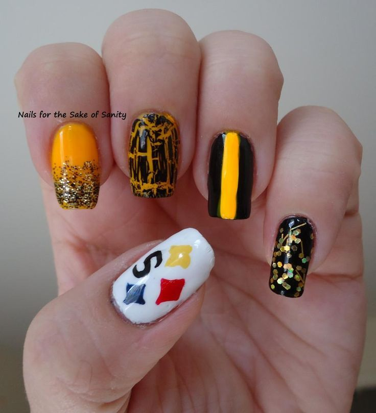Steeler nails | Steelers | Pinterest