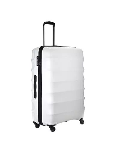Antler Juno 79cm White 4 Wheel Large Spinner Suitcase with TSA Lock from Modern Bags
