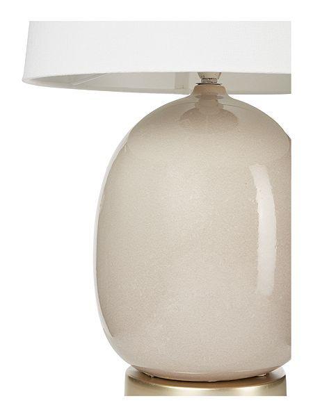 Bedford taupe ceramic table lamp