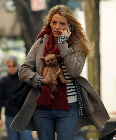 i want all this. blake lively and her dog.