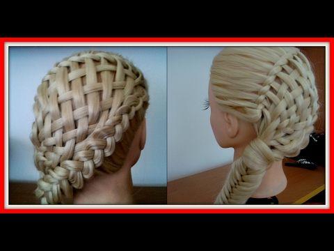8 STRAND BASKET BRAID HAIRSTYLE / HairGlamour Styles /  Braids Hair Tutorial - YouTube