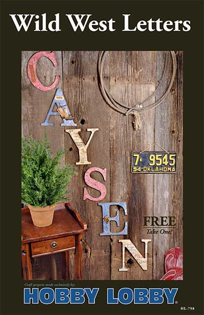 Spruce up that plain wall by creating these wild west letters.: Idea, House
