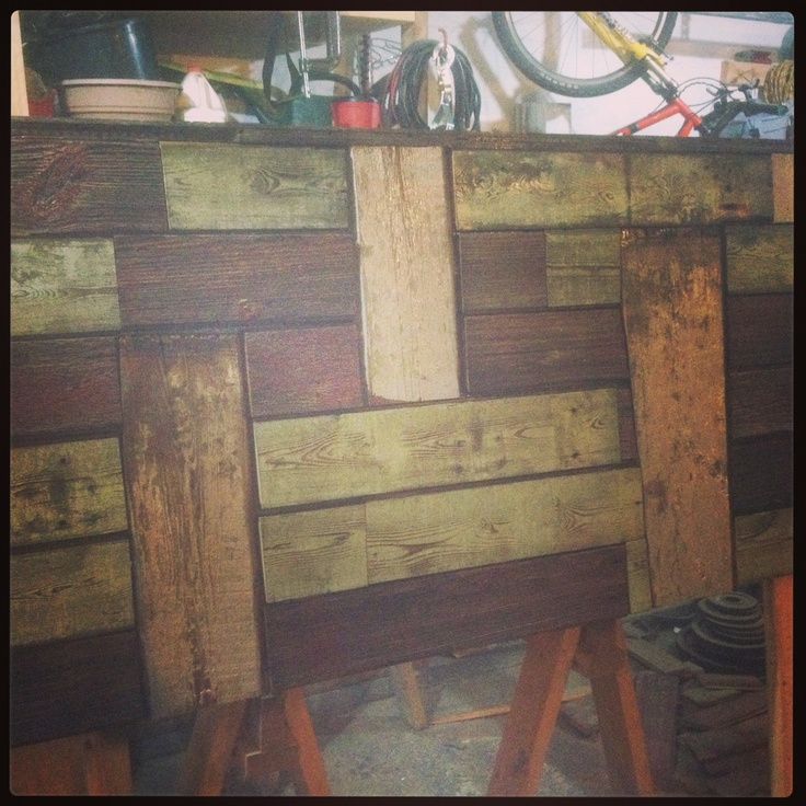 Headboard Made From Old Barn Wood Furniture Pinterest
