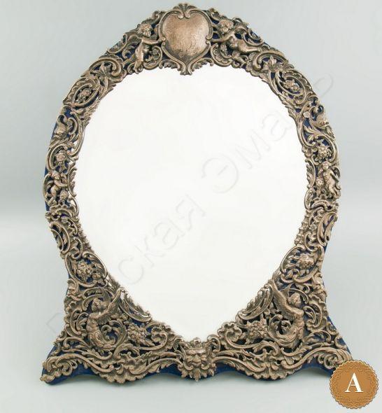 Зеркало в стиле историзм «Амуры»