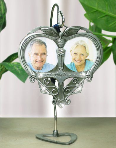 Double Photo Frame In Loving Memory Ornament and Hanger