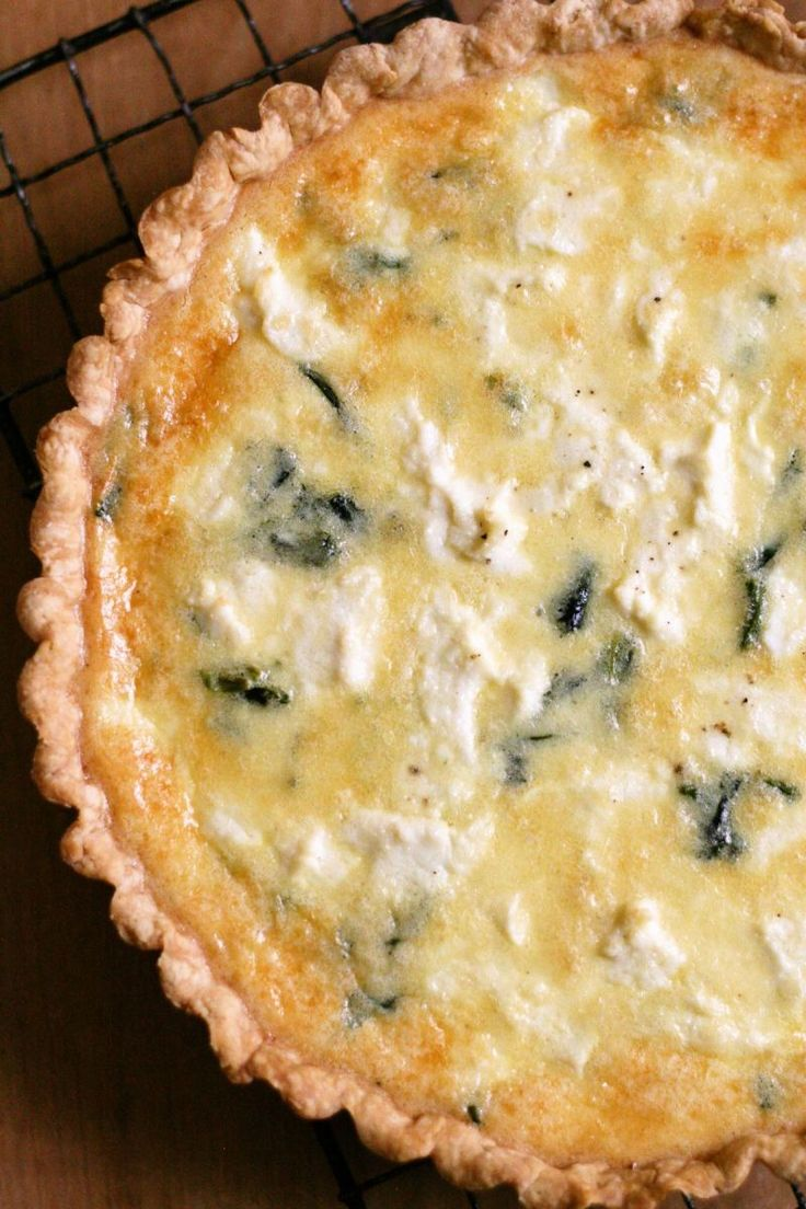美味★ほうれん草とリコッタチーズのキッシュ|ボストンから朝ごはん