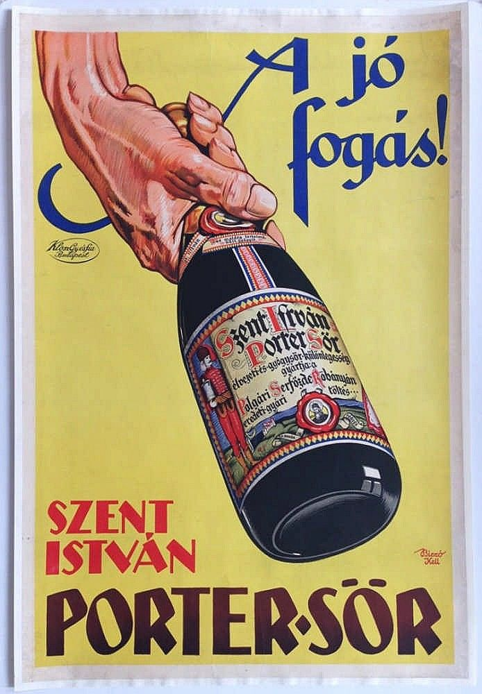 Stephen porter beer - The good catch! commercial poster (1927) András Biczó