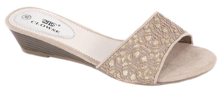 Papuci kaki de dama L87K. Reducere 50%.