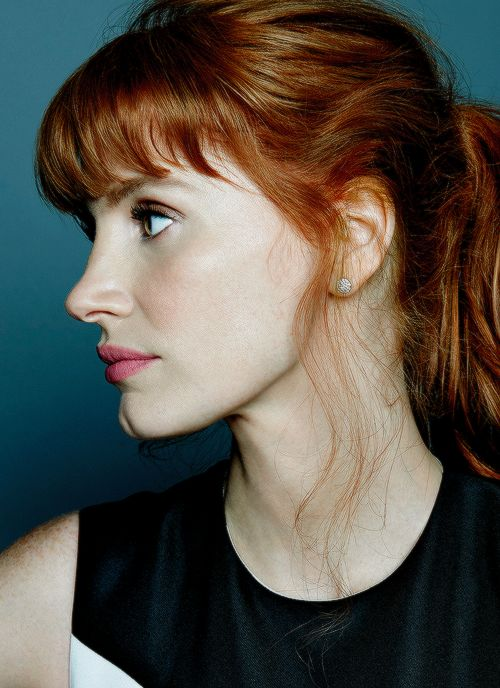 Jessica Chastain - a sculptor, with a chisel, a mallet, and a piece of marble, could not create a more amazing face.