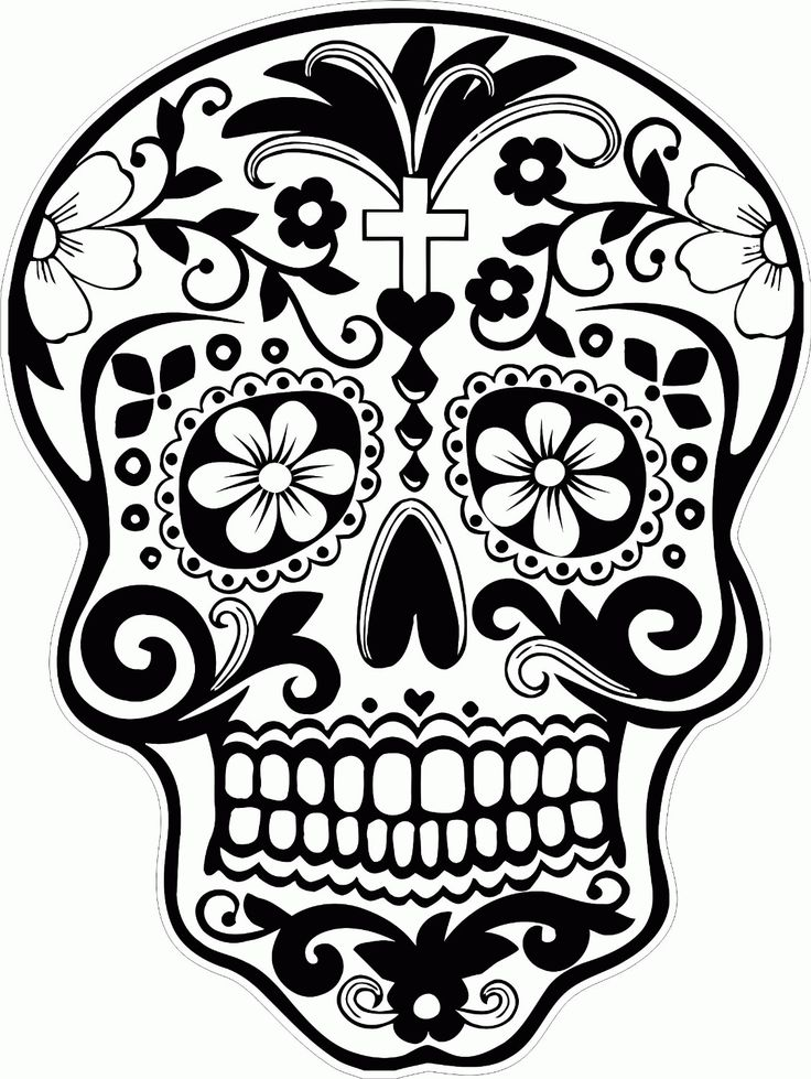 Sugar Skull Coloring Pages to Have Scary but Beautiful ...
