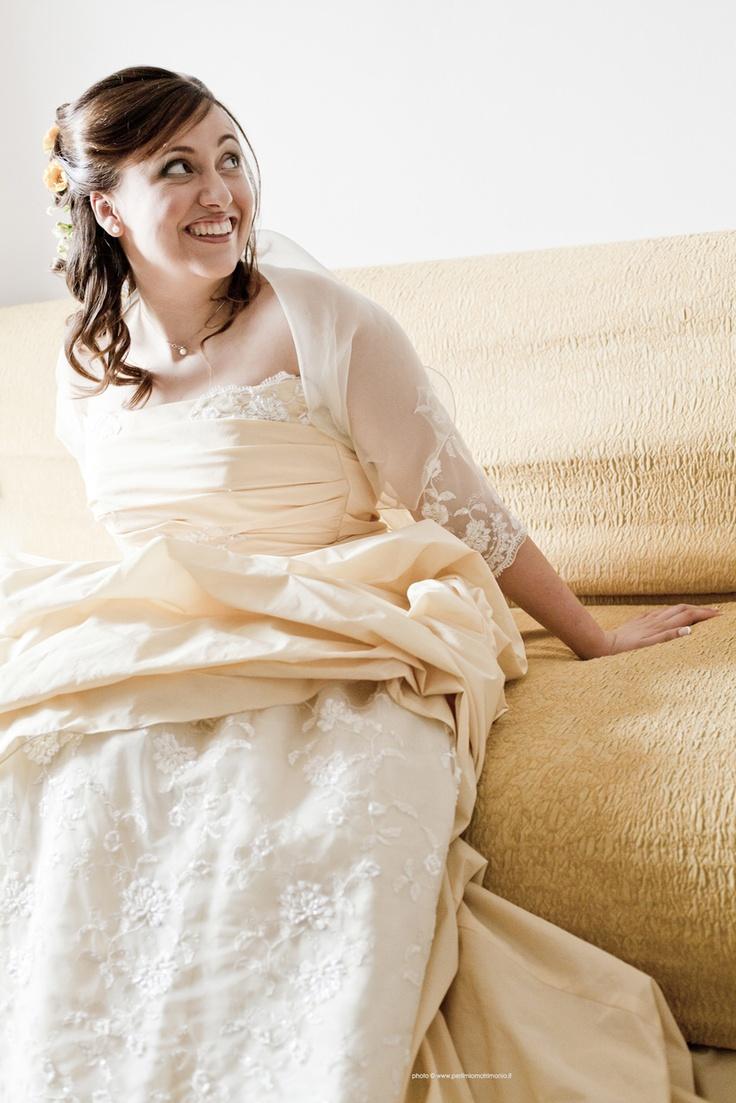 Abito giallo sposa | foto sposa