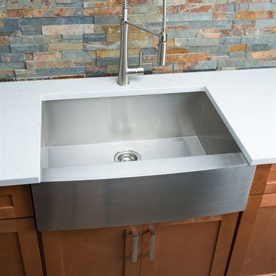 Hahn FH00 Farmhouse Single Bowl Stainless Steel Sink