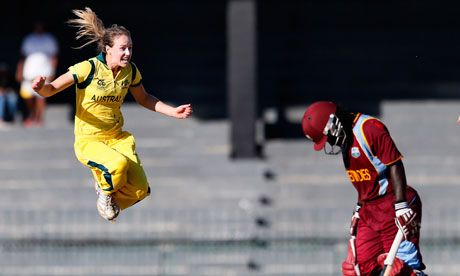 Ellysse Perry. Ellyse Perry dismissed Deandra Dottin to help Australia beat West Indies and go into the world T20 final against England.