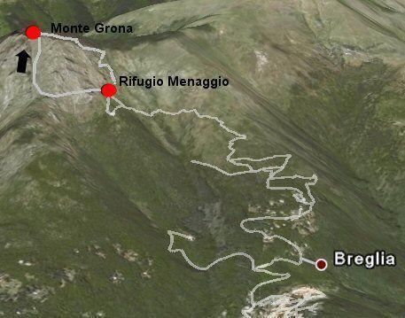 Map of Rufugio Menaggio Walk