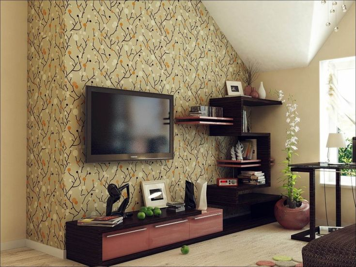 25 best ideas about tv wall cabinets on pinterest wall for Flat screen tv bedroom ideas