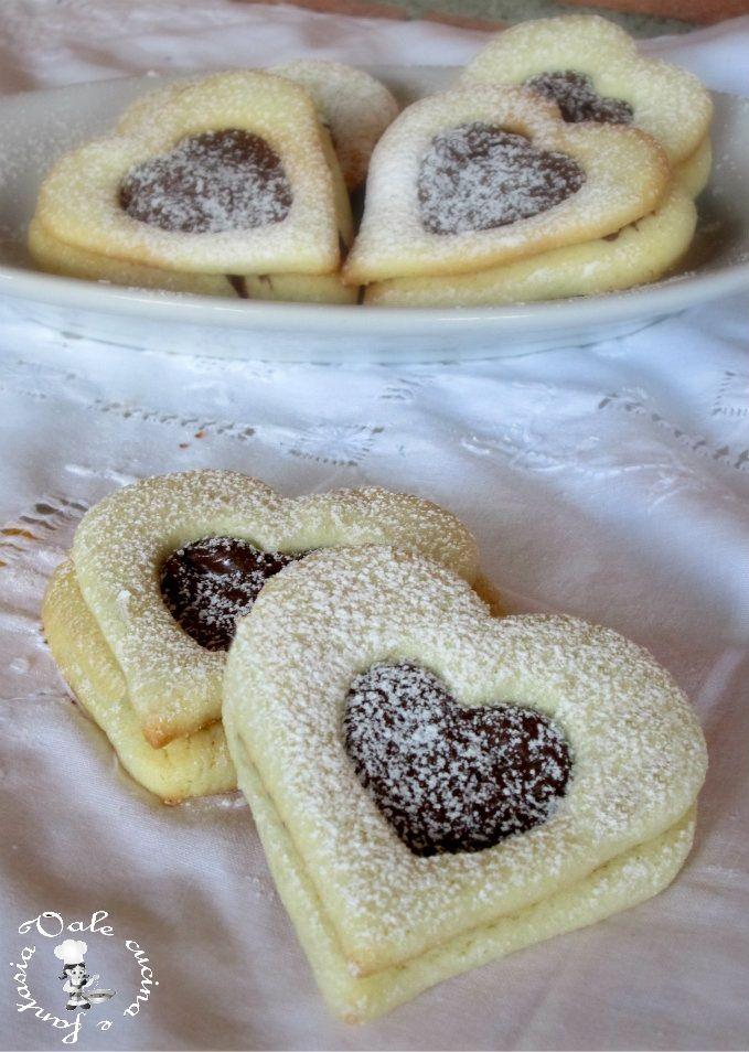 Biscotti con cuore alla nutella