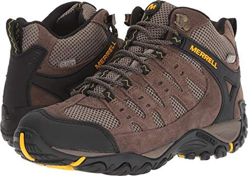 78f3f8ca Merrell Men's Accentor MID Vent Waterproof Hiking Boot, Stone/Old ...