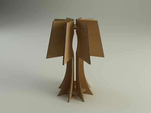 Cardboard box can be transformed into different objects.