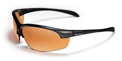 Maxx Sunglasses Domain Black Frame HDP Amber Lenses