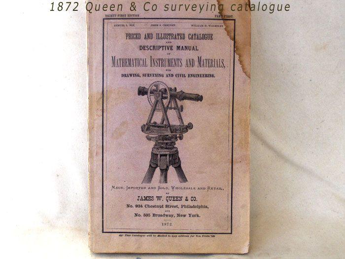 1872 Queen & Co surveying catalogue