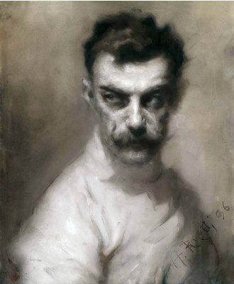 Ritratto del maestro Luigi Barbasetti | Arturo Rietti | 1896 | Pastello | 51x42 com | Dono del conte Francesco Sordina (Trieste, 1934)