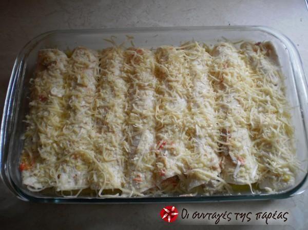 Κοτόπουλο τυλιγμένο σε αραβική πίτα #sintagespareas