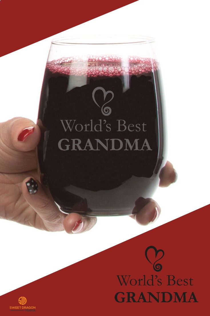 World S Best Grandma Stemless Wine Glass 21 Oz Stemless Wine Glass Wine Glass Glassware Collection