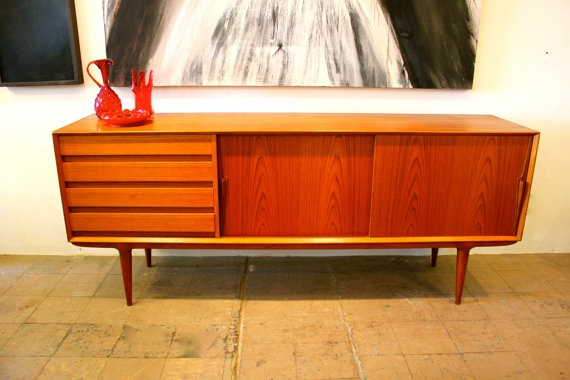Danish Modern Sideboard by Omann Jun by ColibriFinds on Etsy, $2800.00