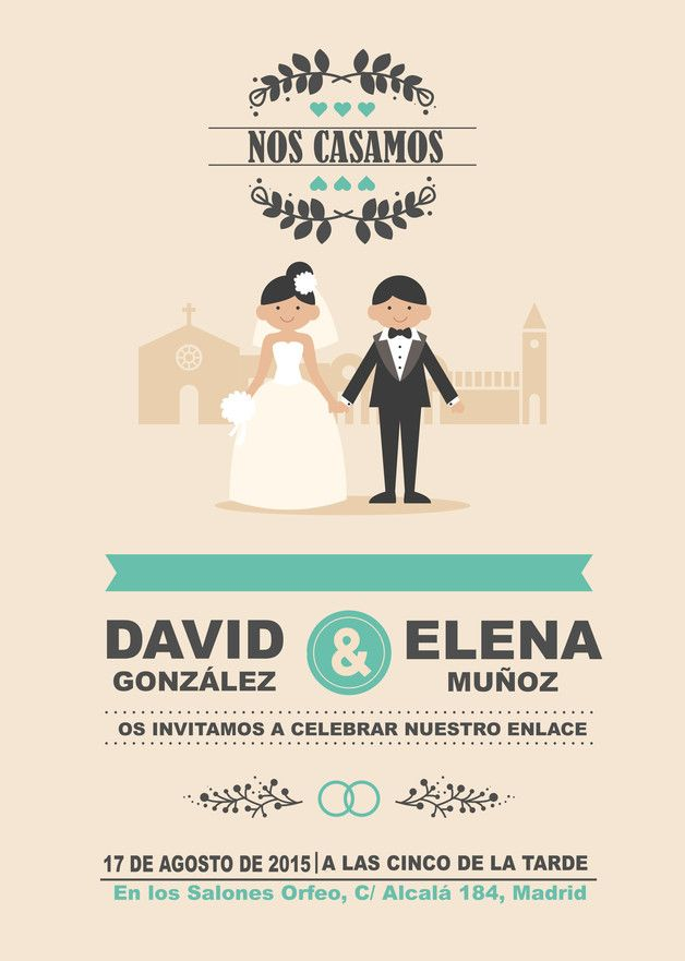 invitaci u00f3n boda en 2019