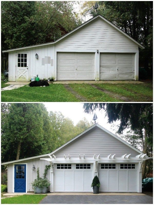 Remodelaholic The 1 Curb Appeal Update To Add Value To Your Home Garage Doors Garage Door Design Garage Door Makeover