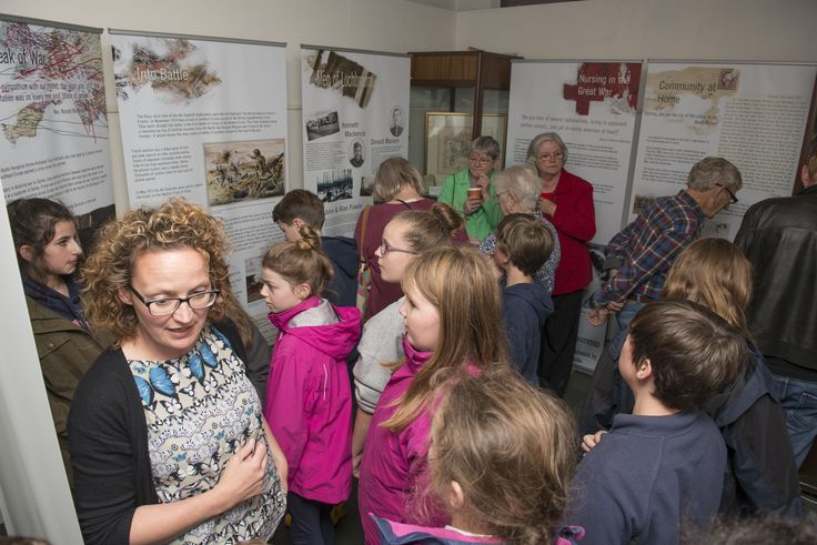 At our launch event for the Great War exhibition, curatorial advisor Helen Avenell chatted with some of the school pupils
