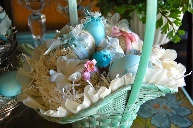 Turquoise basket for my sister