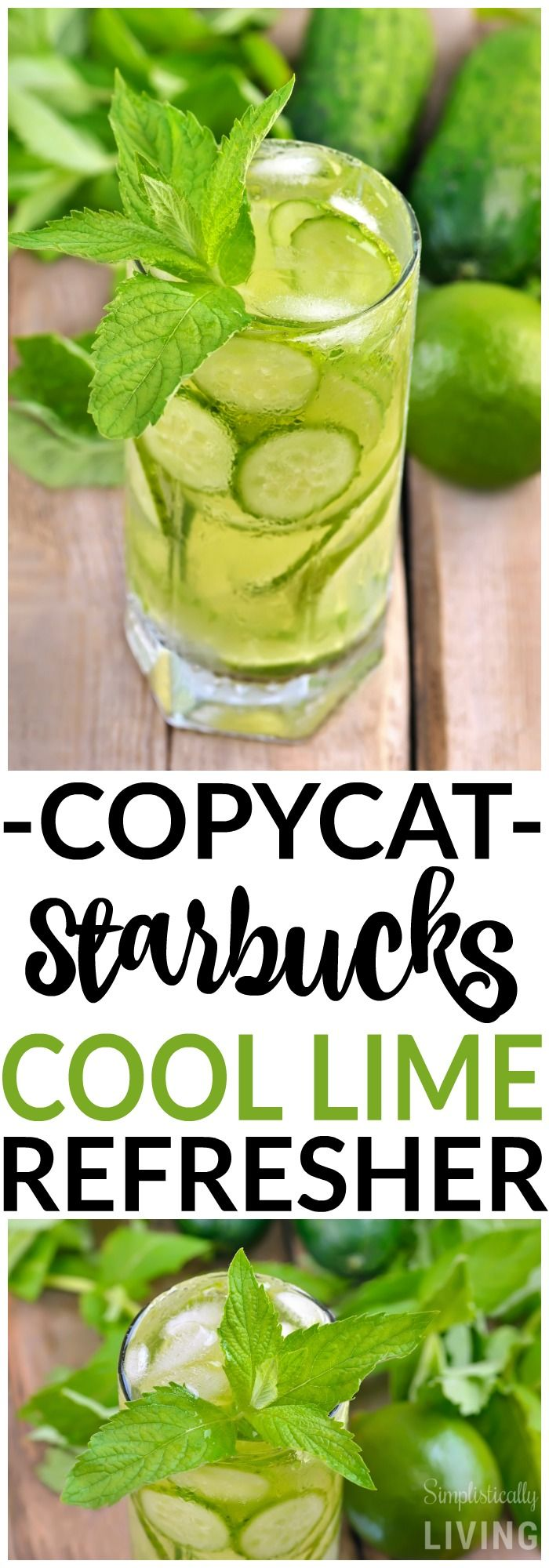 Copycat Starbucks Cool Lime Refresher - It's simply, refreshingly delicious!