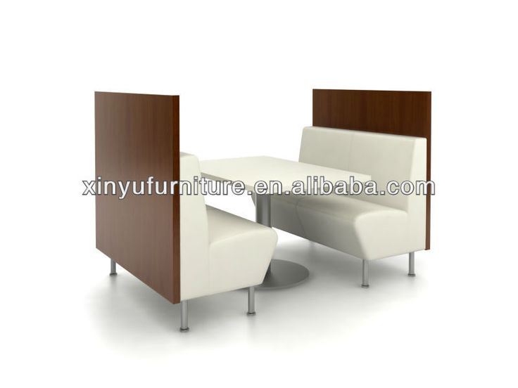 modern restaurant booth sofa and table XY0122
