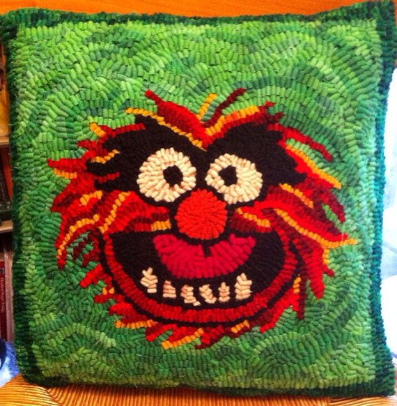 My friend Meghan makes these! Muppets Animal Hooked Pillow by HookedOnGeek on Etsy
