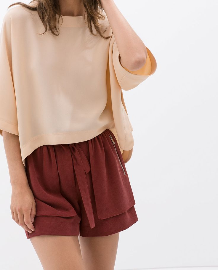 ZARA - WOMAN - ZIPPED SHORTS WITH BELT